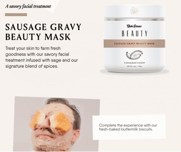 肉汁美容マスク