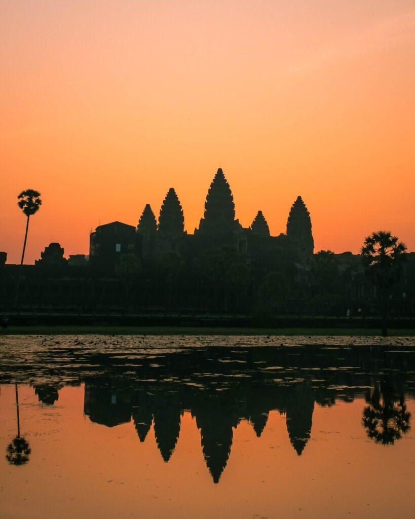 カンボジアの夕日
