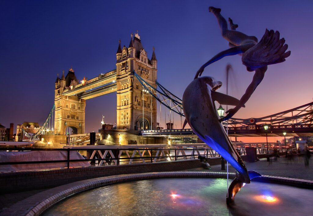 イギリスの夜景