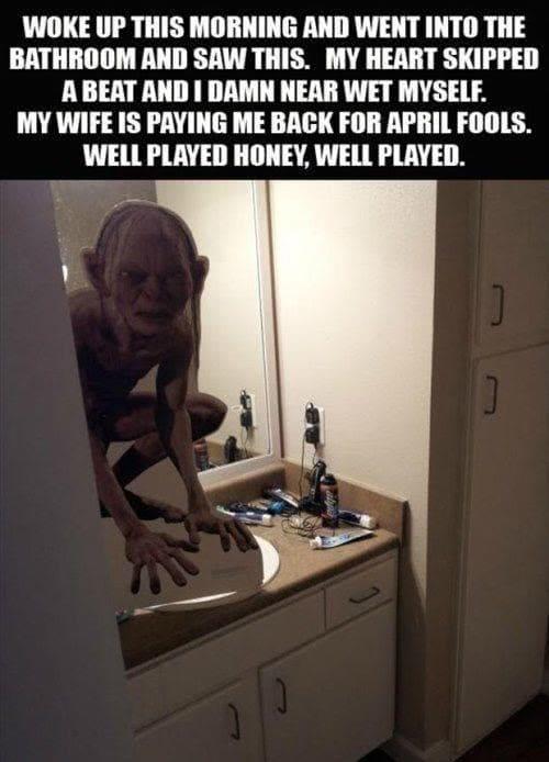 トイレのドアを開けたらゴラム
