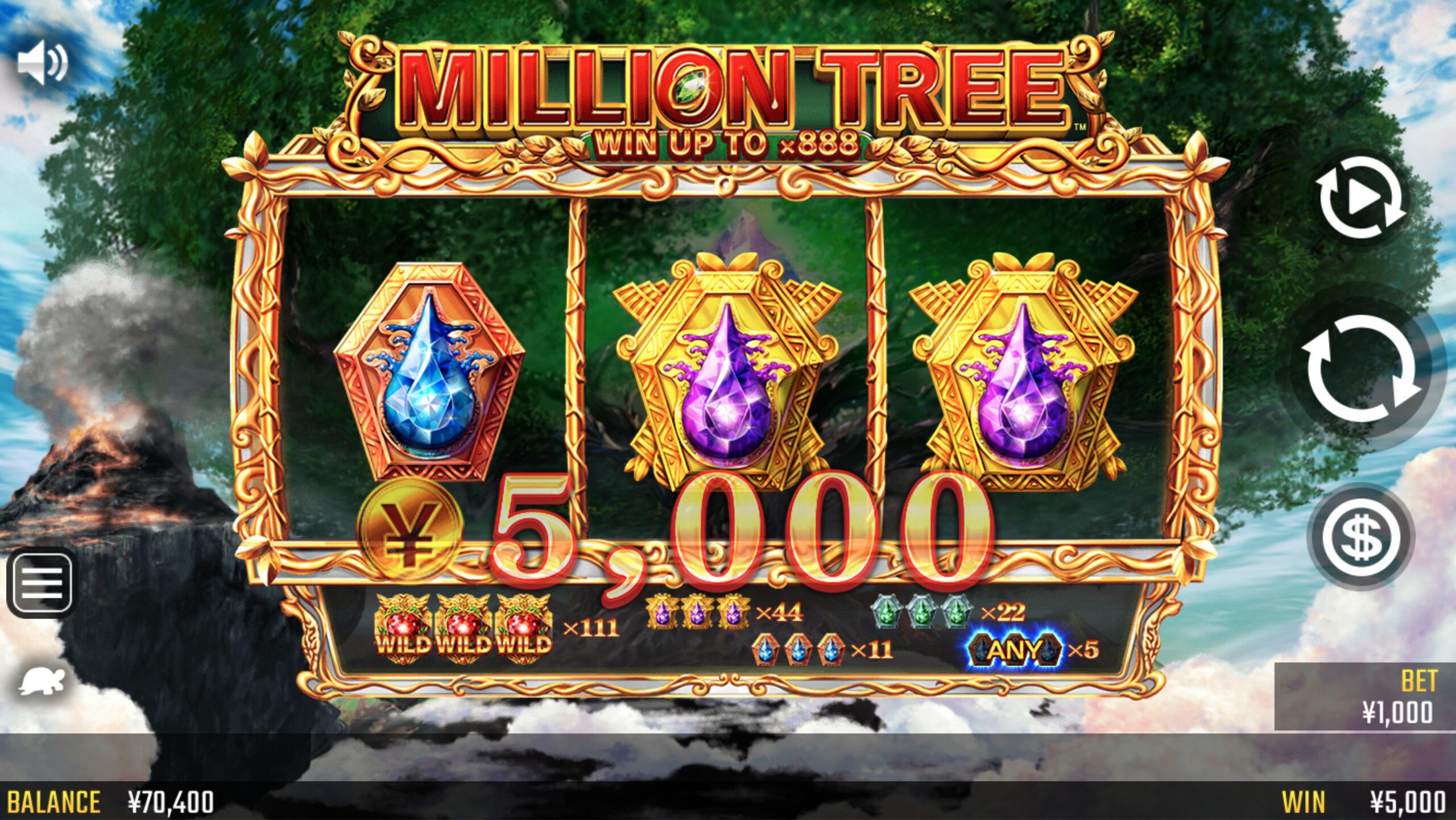 ミリオンツリーの5000円WIN