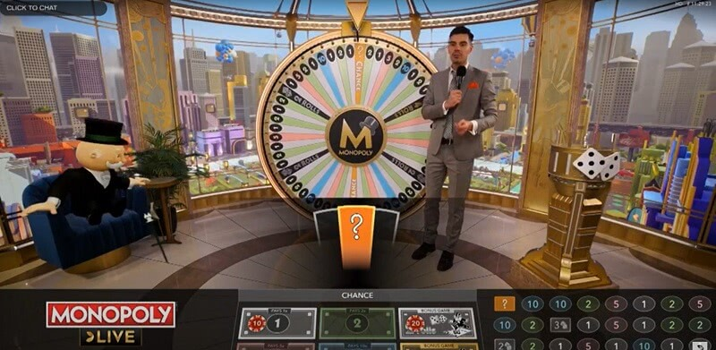 モノポリーライブのプレイ画面